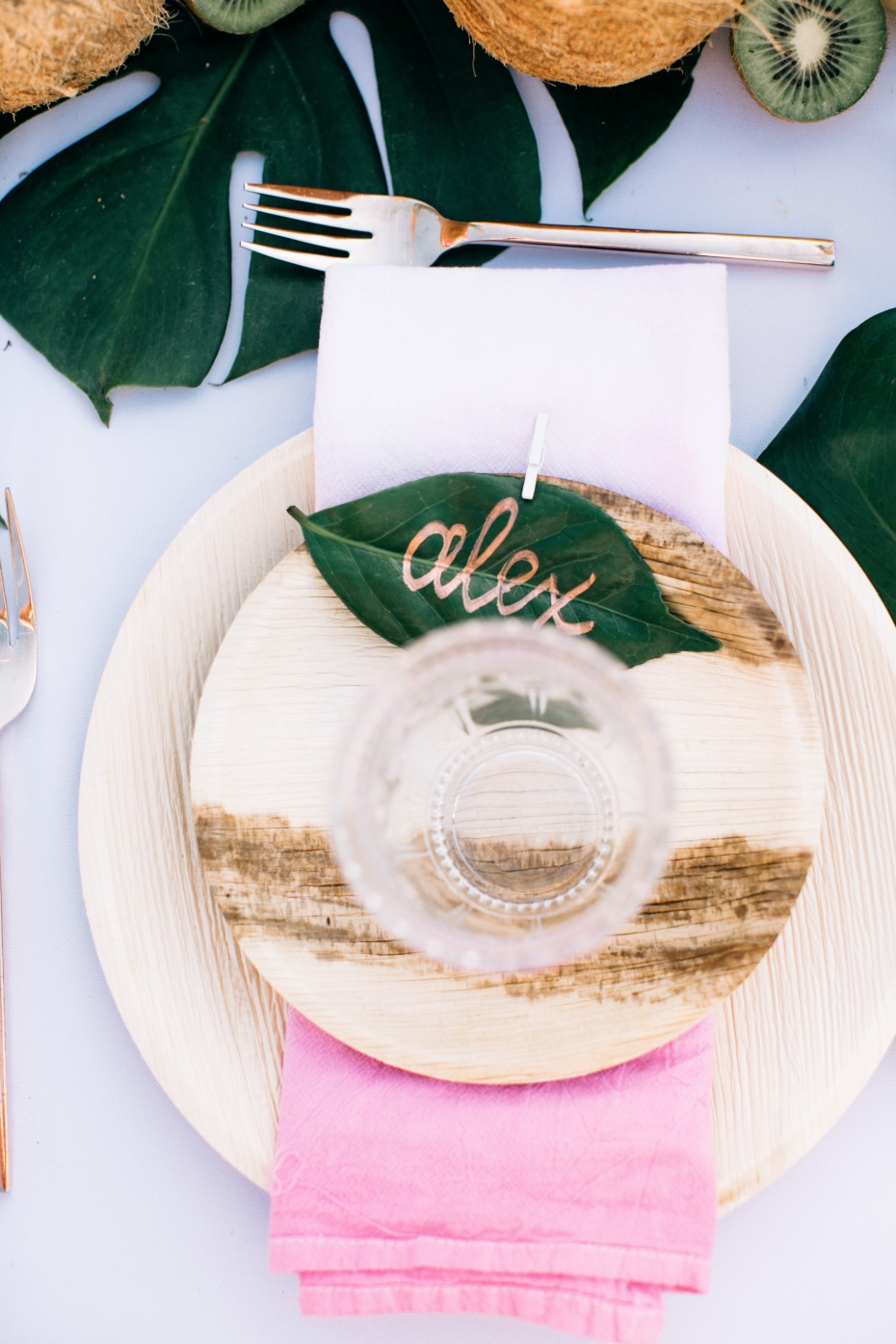Babu disposable plates by Bambu were used at this wedding instead of traditional plates