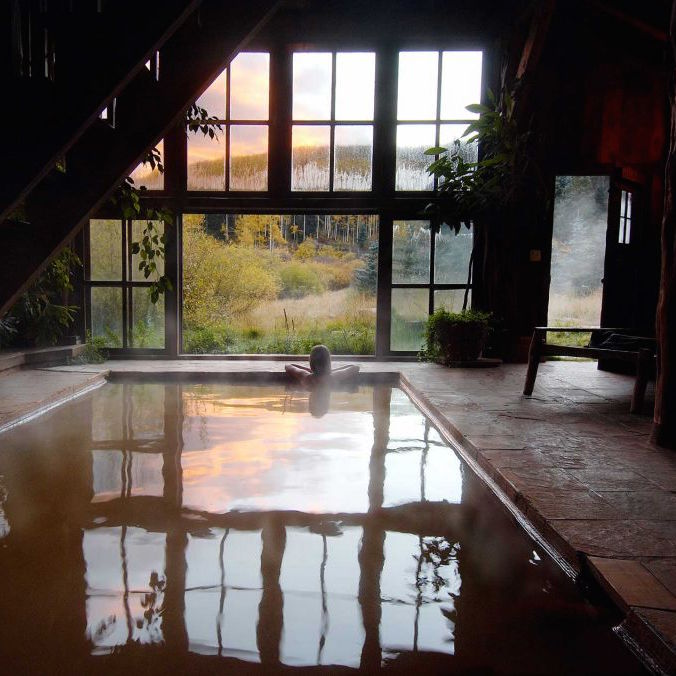 Just across the mountain from Telluride, Dunton Hot Springs Resort is a romantic ghost town, set in an extraordinary alpine valley
