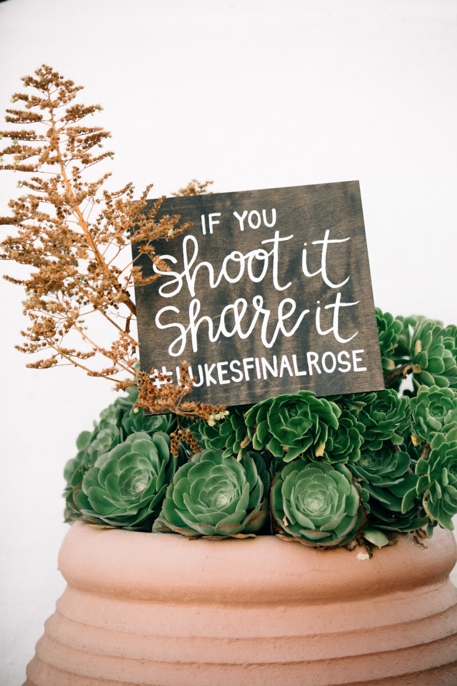 handmade wooden hashtag sign for your wedding