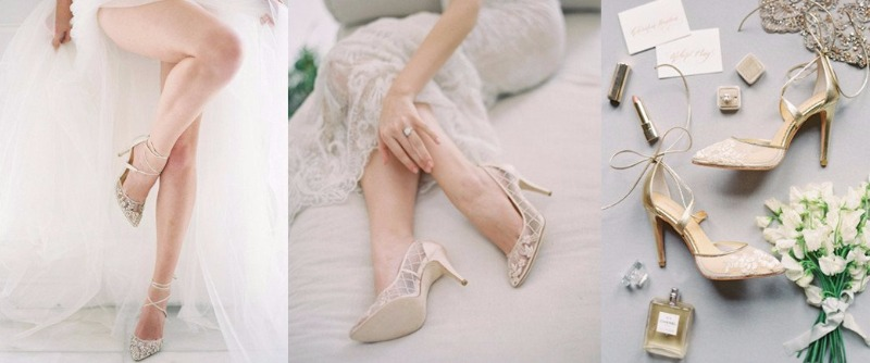 Bridal heels, flats, and sandals from Bella Belle Shoes! Now available at Davie and Chiyo.