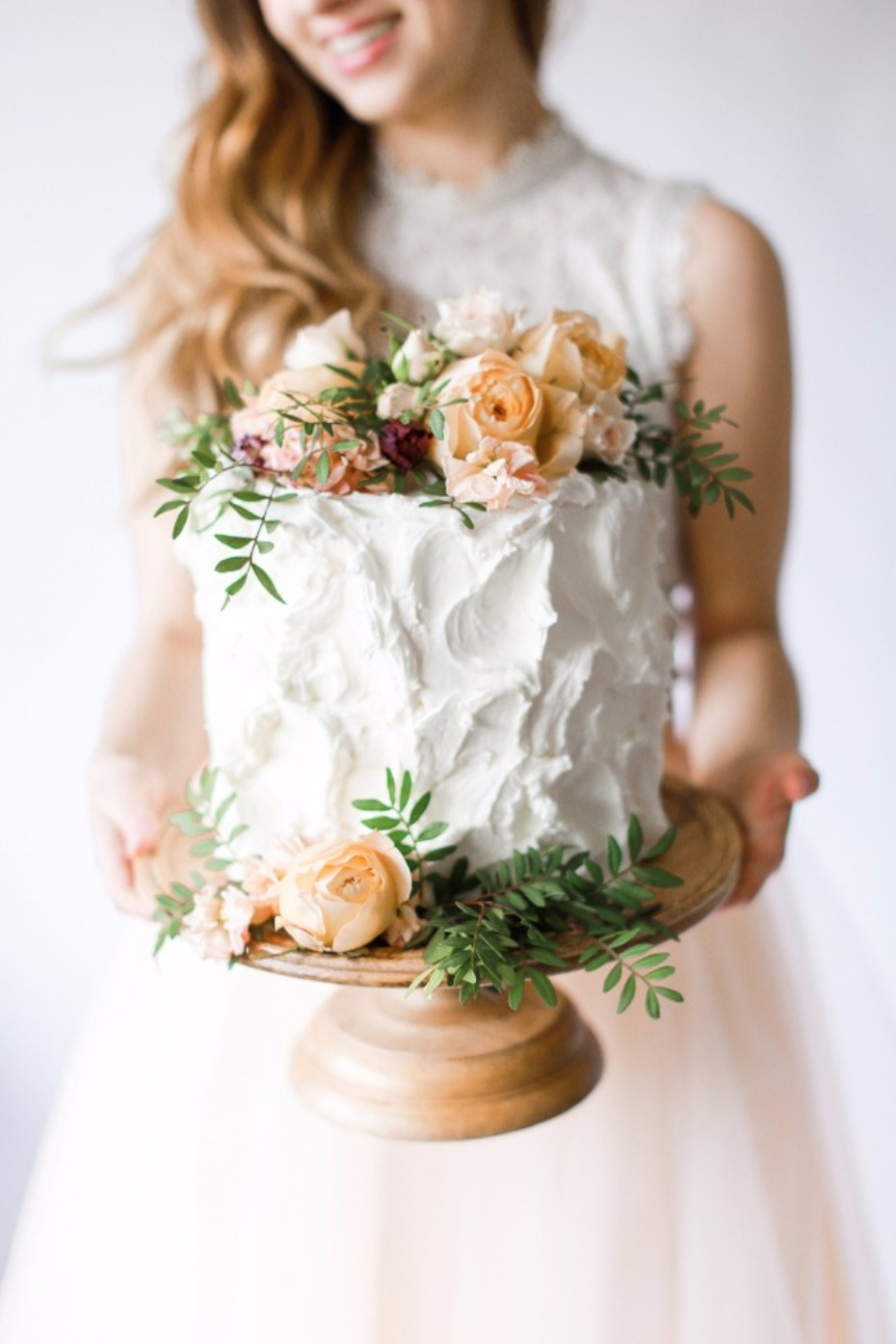 Gorgeous floral cake topper