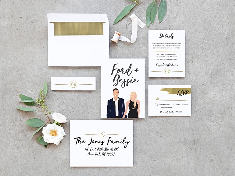 Miss Design Berry's Modern Wedding Invitation Set is the perfect way to announce your nuptials! This set will seriously WOW your guests