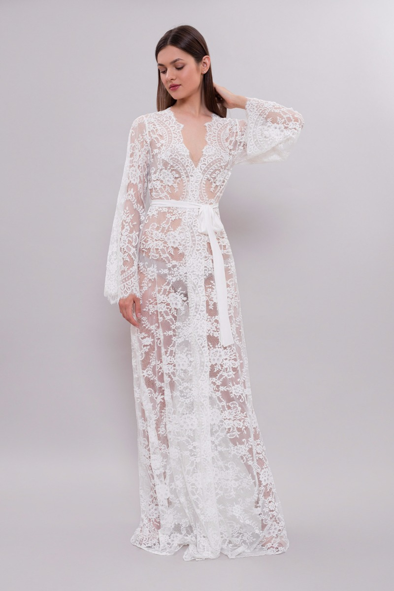 Lace Bridal Robe from ApilatLingerie