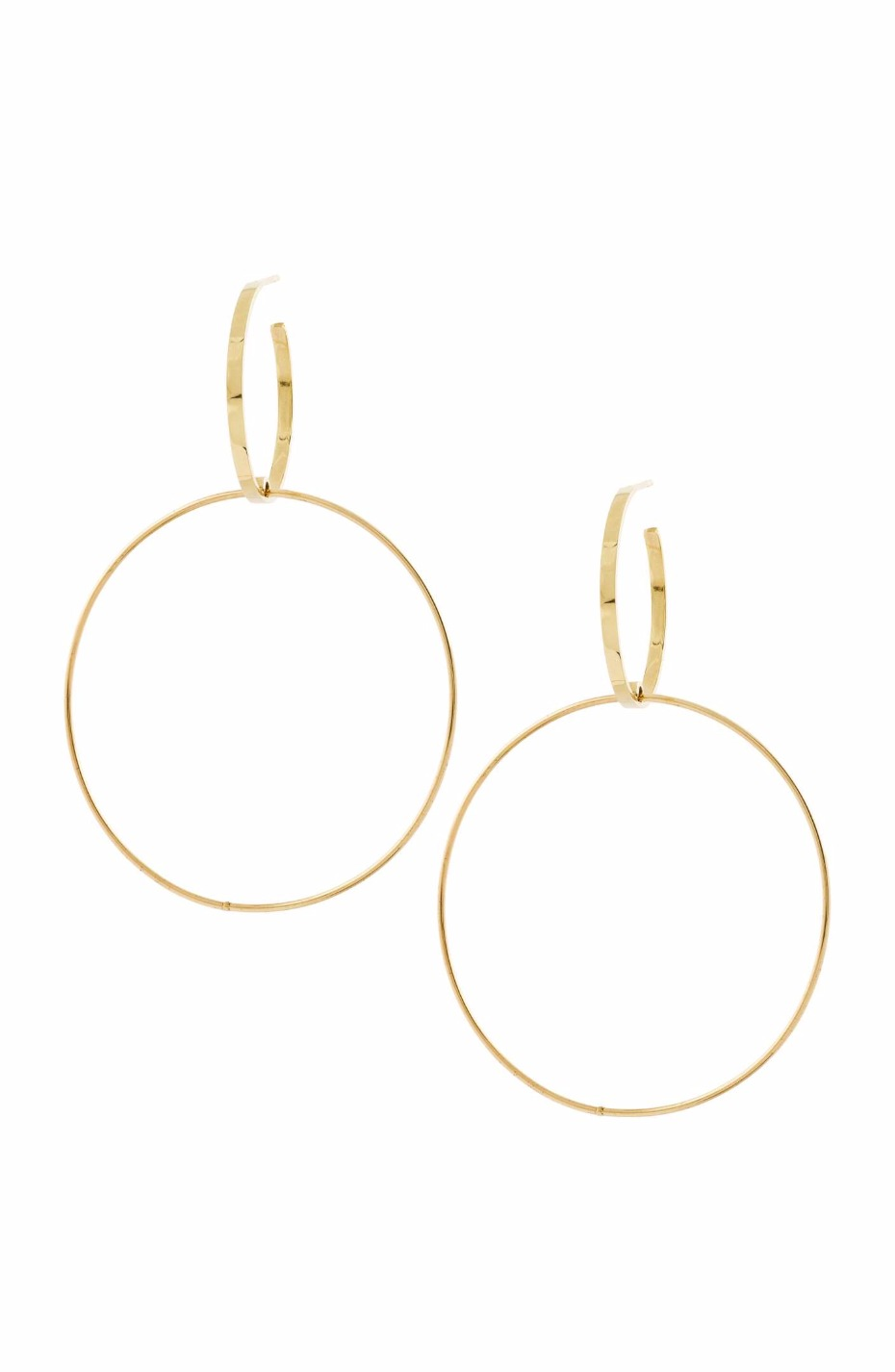 Double Bond Hoop Earrings by LANA JEWELRY