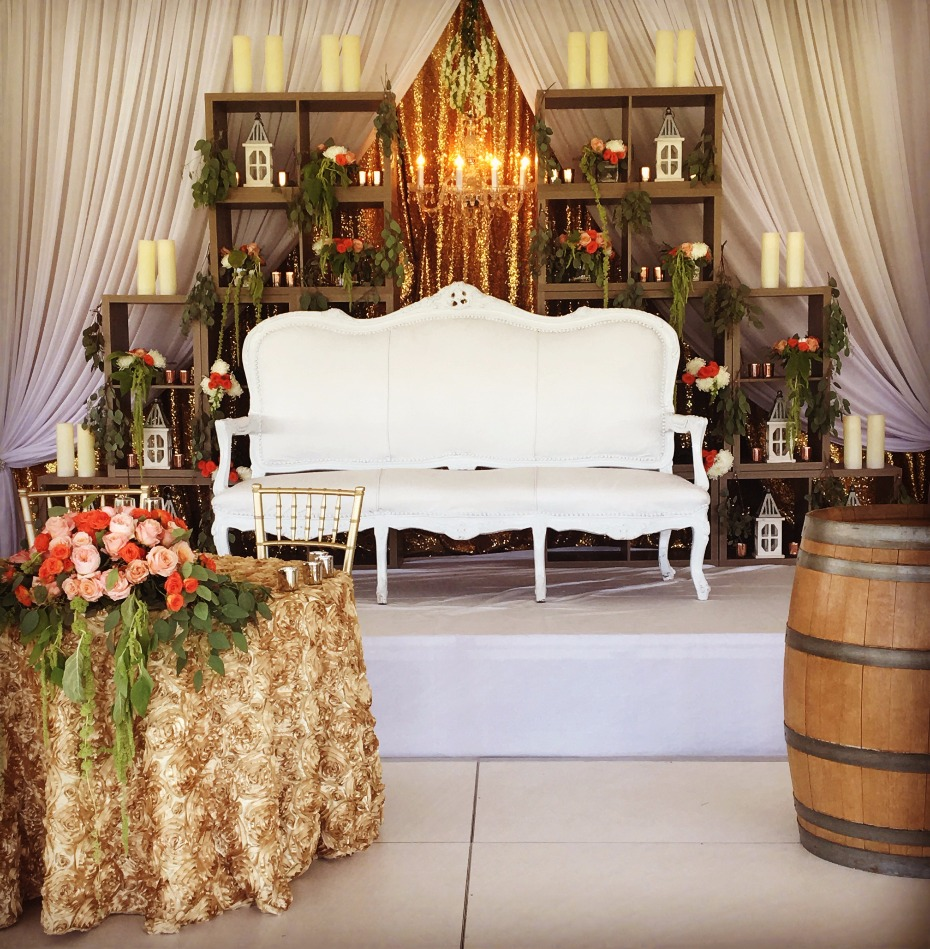 Chic reception lounge area from Saba Decor Rentals