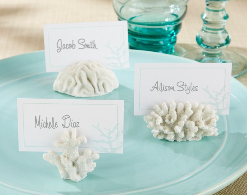 🐠 Create an under-the-sea feel with these coral place holders that will delight your guests!
