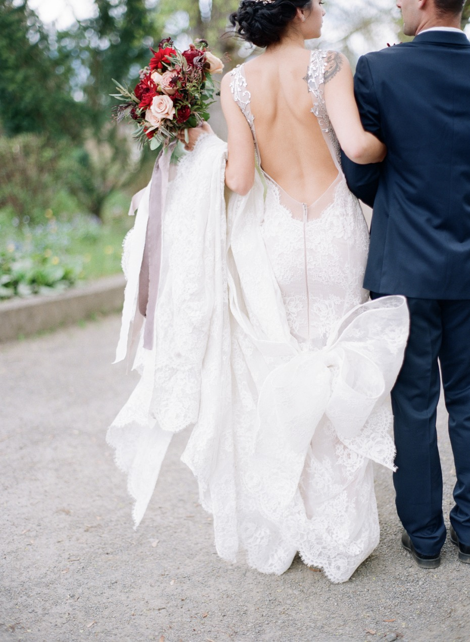 Gorgeous low back gown with a giant bow