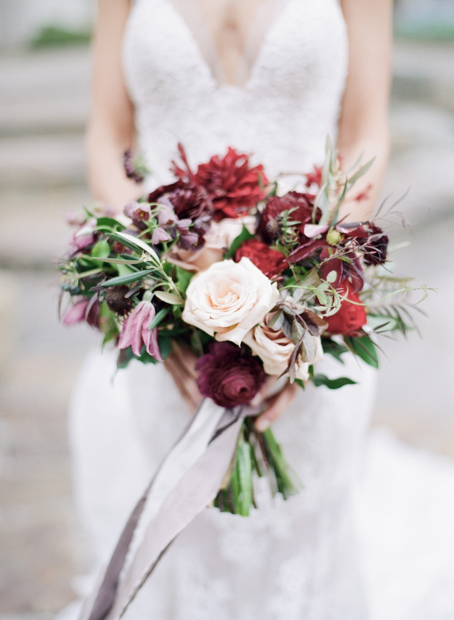 Red and blush bouquet