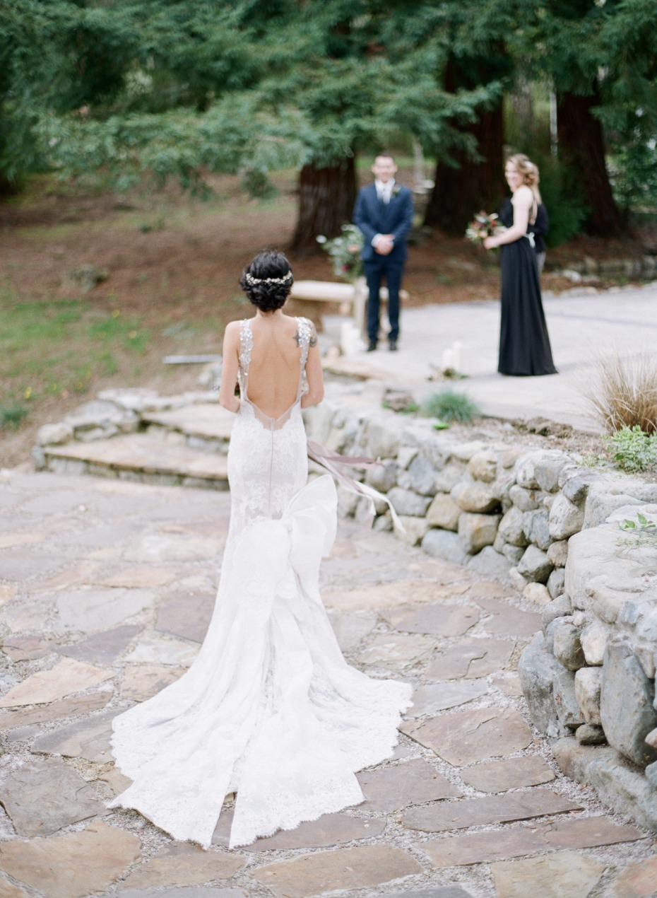 Gorgeous low back gown