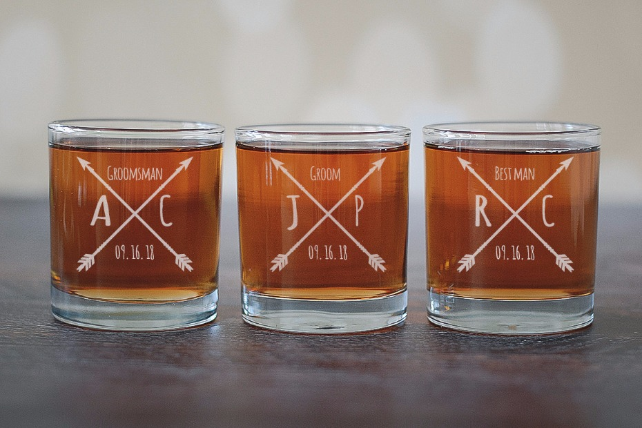 groomsman shot glasses
