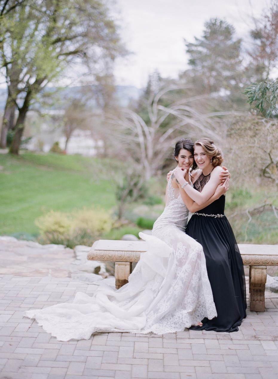 Bride and her bestie