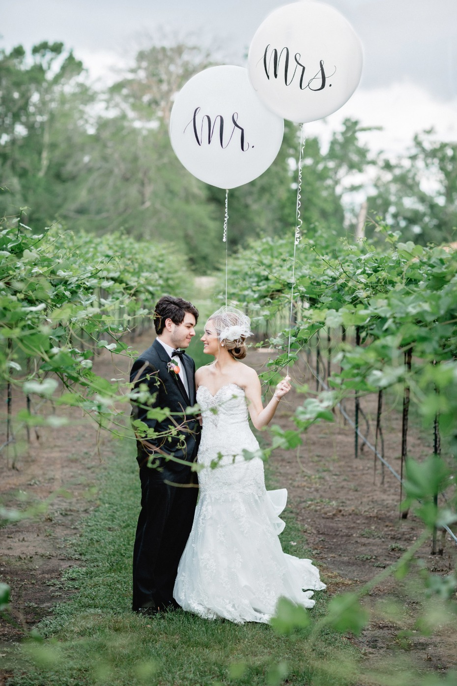 Mr and Mrs giant balloons