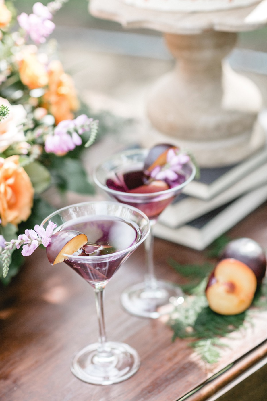 signature plum cocktail