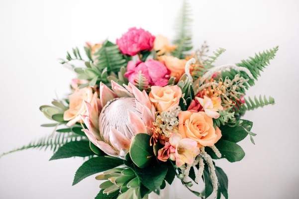Peach And Magenta Tropical Wedding That You are going to Freak Over