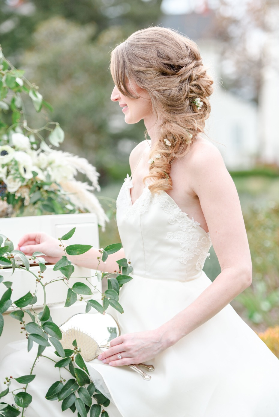 romantic wedding braid