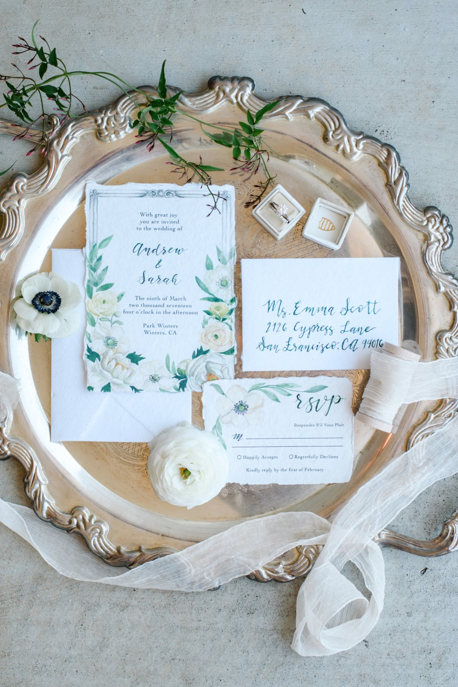 secret garden inspired wedding suite