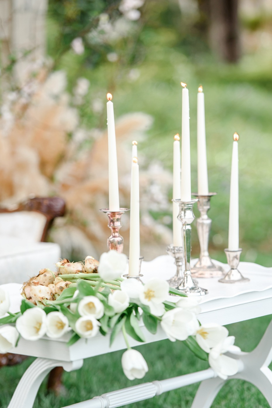 candle lit wedding lounge
