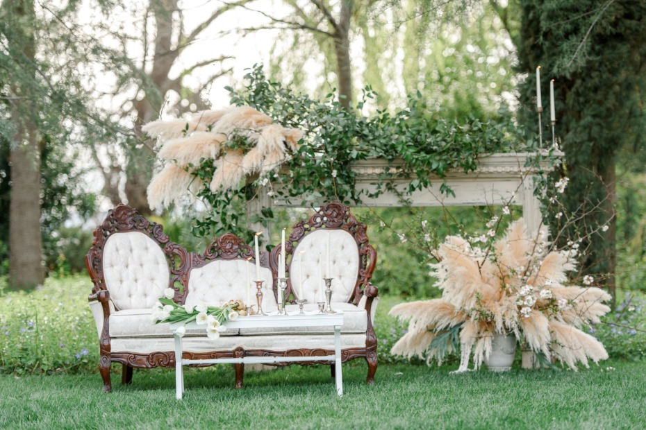 secret french garden wedding lounge idea