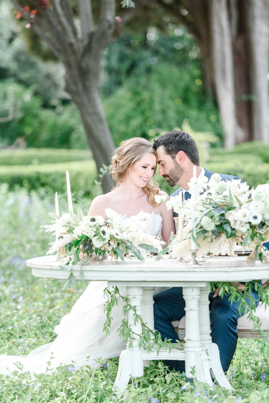 romantic french style sweetheart table