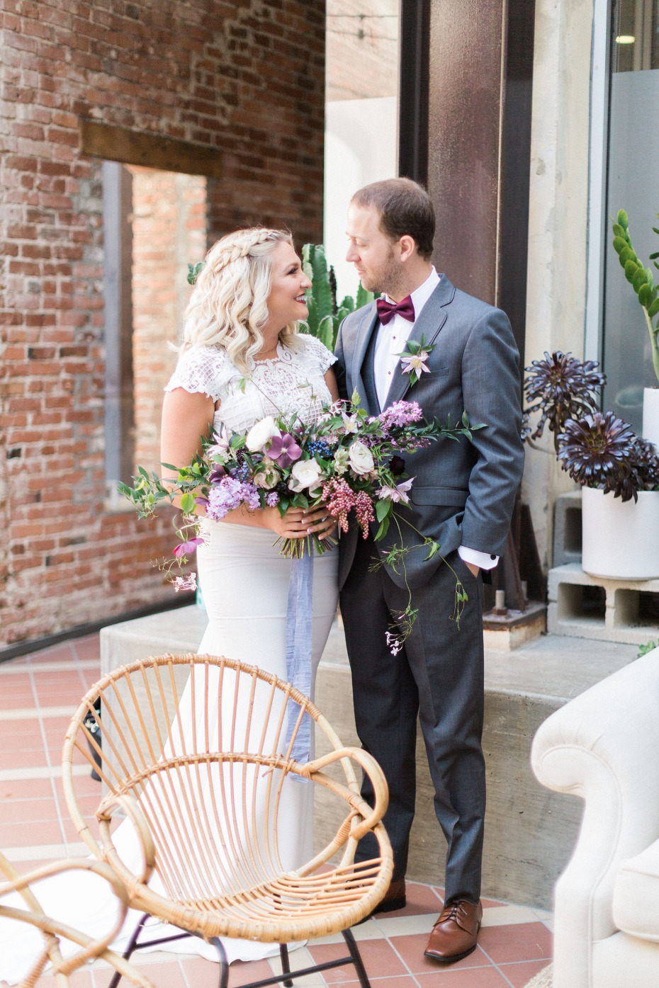 you and me and our eclectic wedding