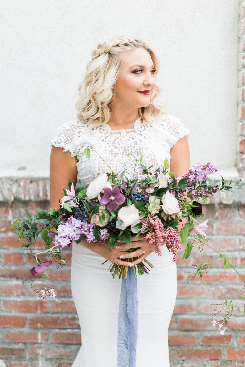 fresh and clear bridal style