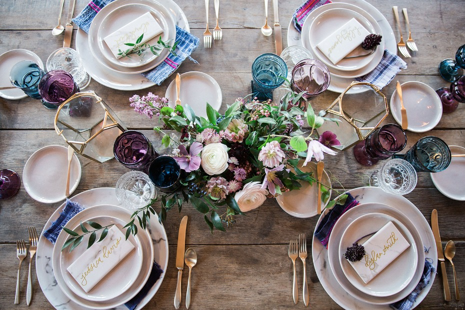 rustic modern chic table decor with a boho twist