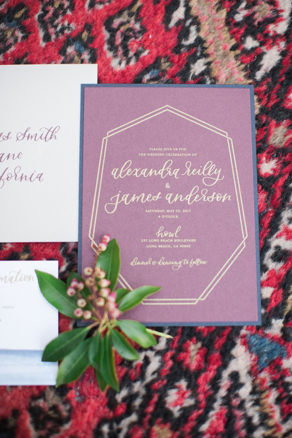 modern chic wedding initation