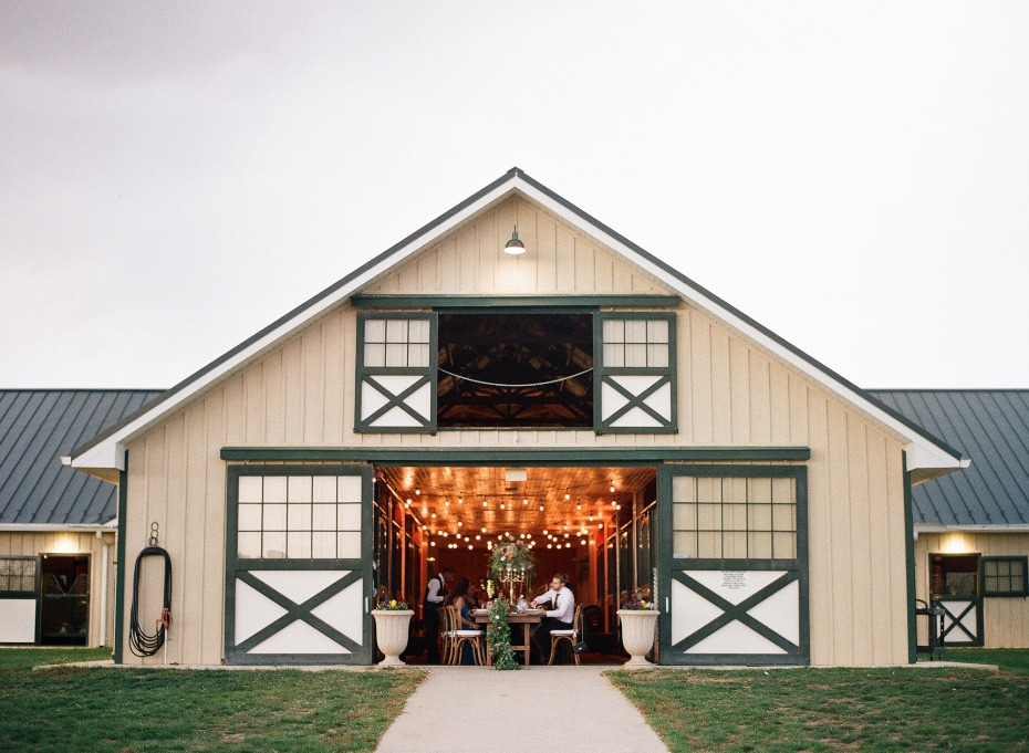 wedding reception in the stables