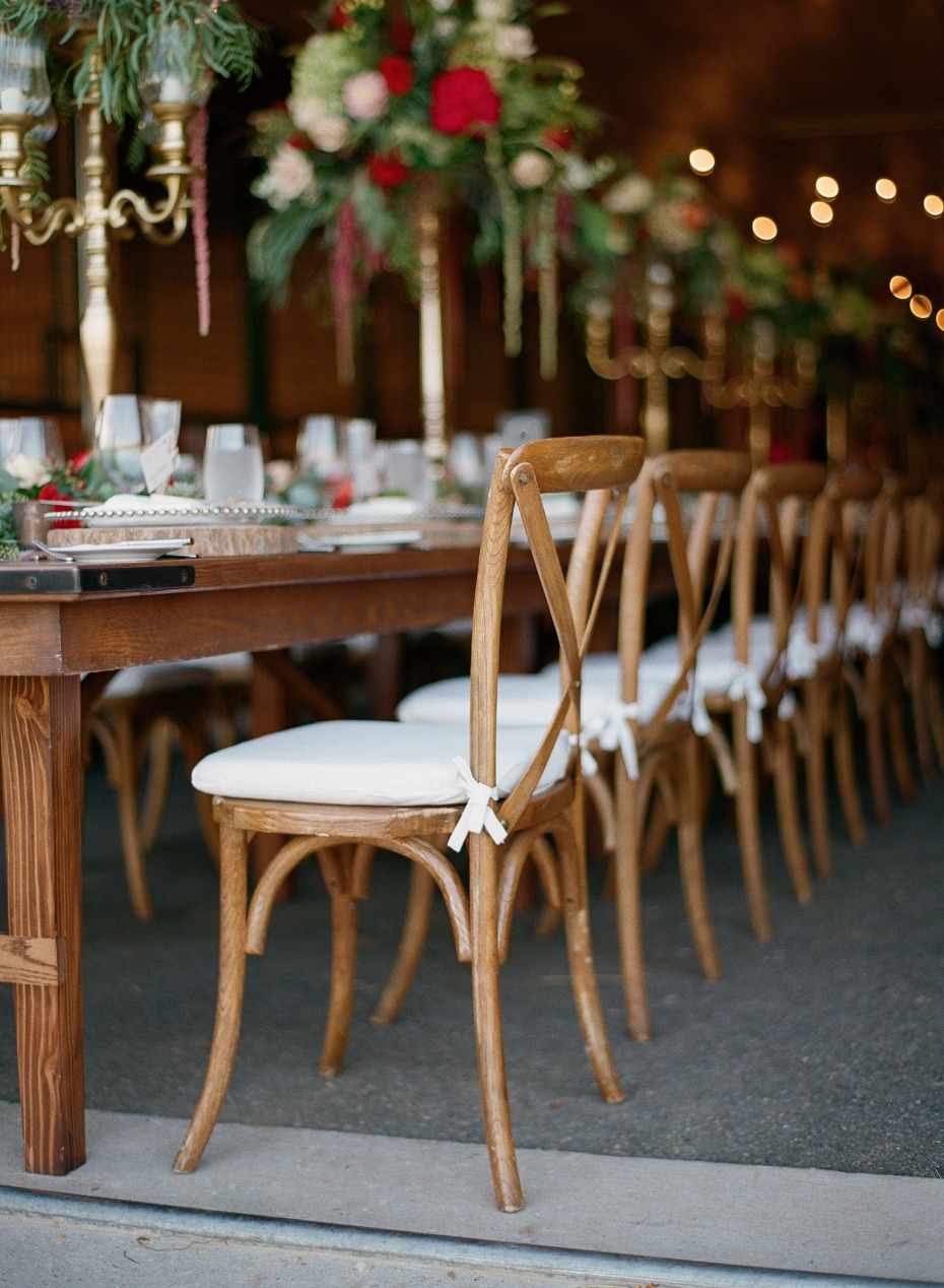rustic stables wedding decor
