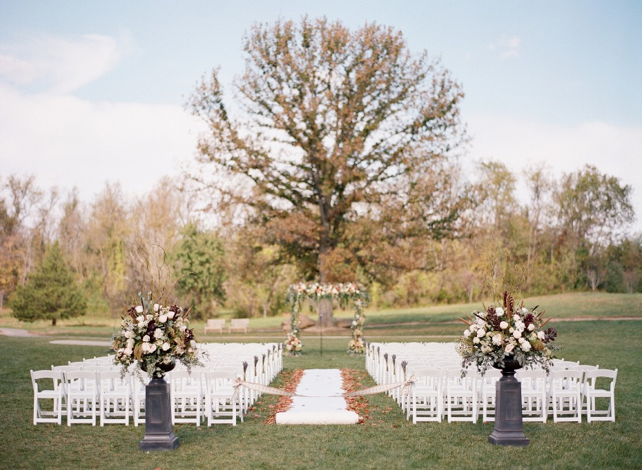 classic outdoor Fall wedding