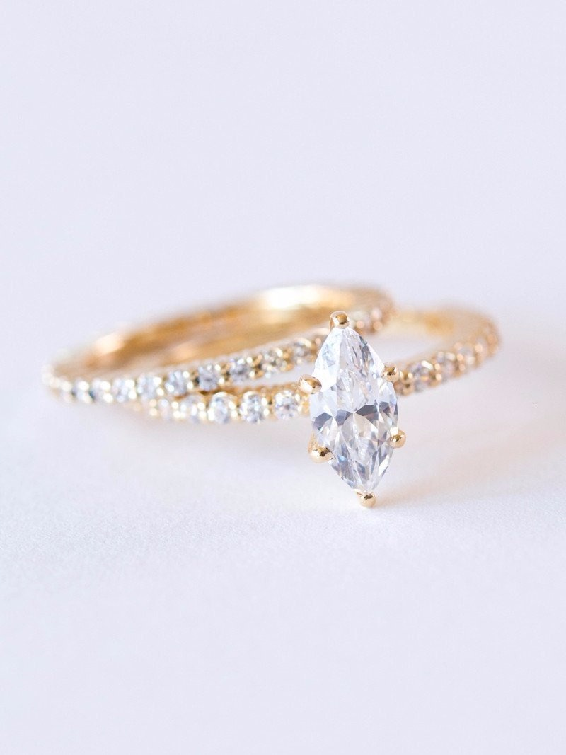 The perfect marquis moissanite engagement ring.