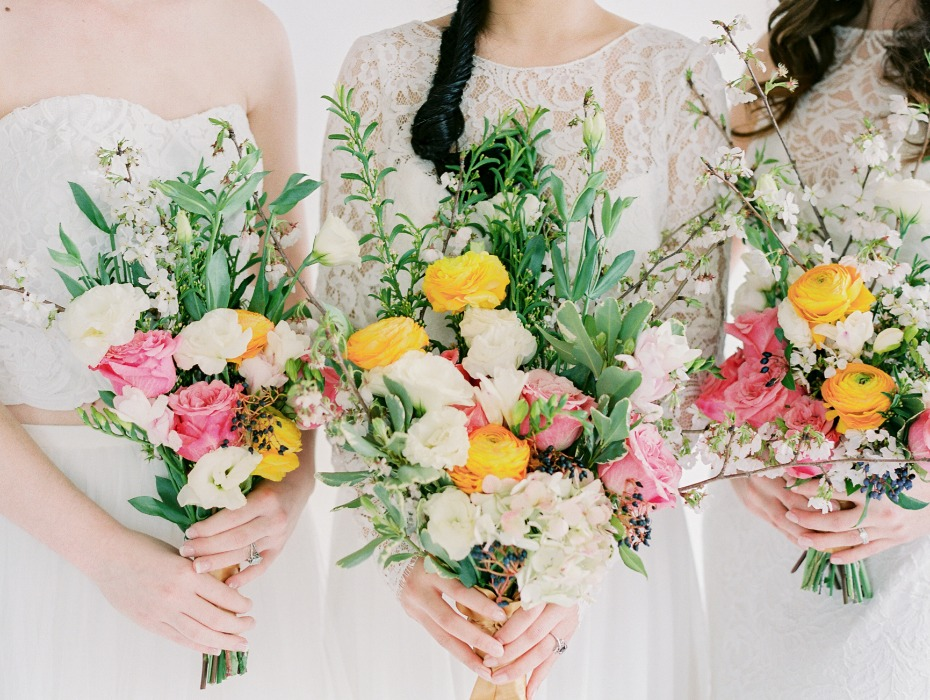 Spring bridal bouquets