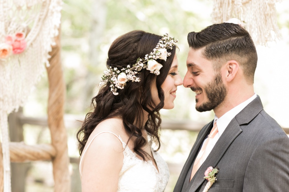 Boho romance wedding shoot