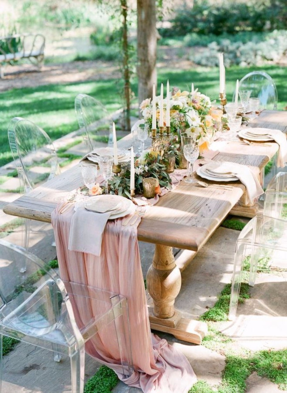 Farm Table Flowy Chiffon Table Runner