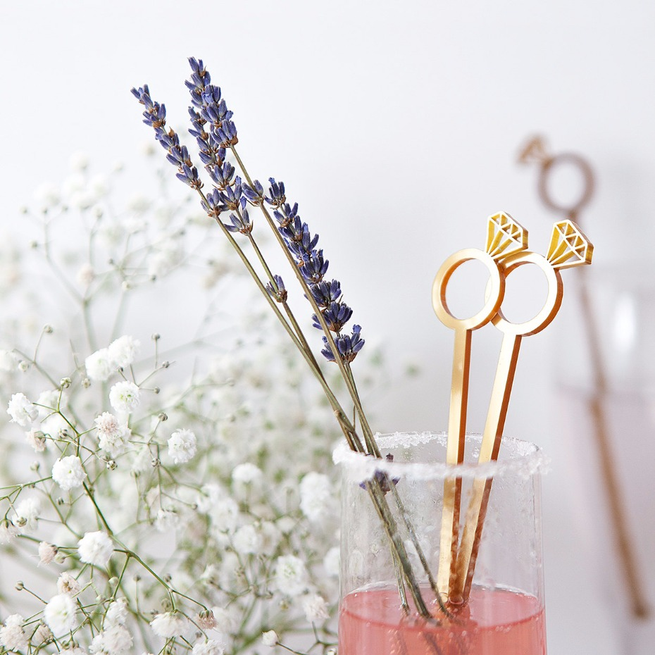 Diamond Ring Cocktail Stirrers