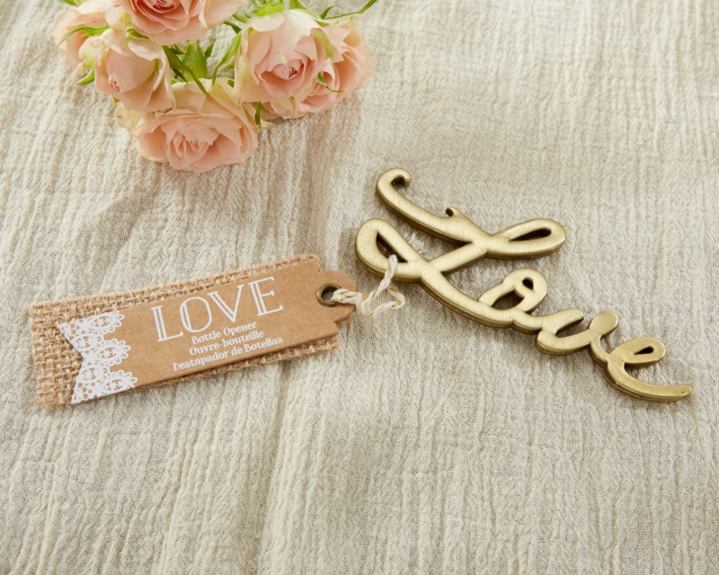 💛 This Love Antique Gold Bottle Opener is a fancy and functional reminder of your special occasion.