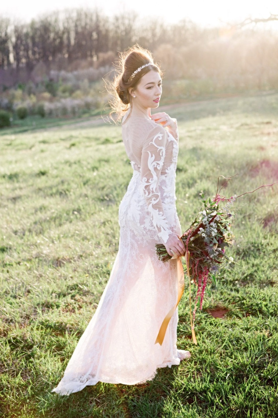 Hand stitched couture gown from Sheri Autry Couture