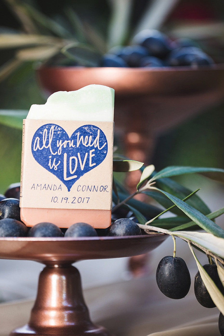 custom soap wedding favors