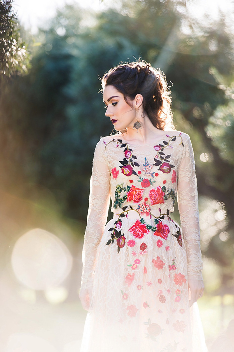 floral wedding dress by Dark Pony Designs