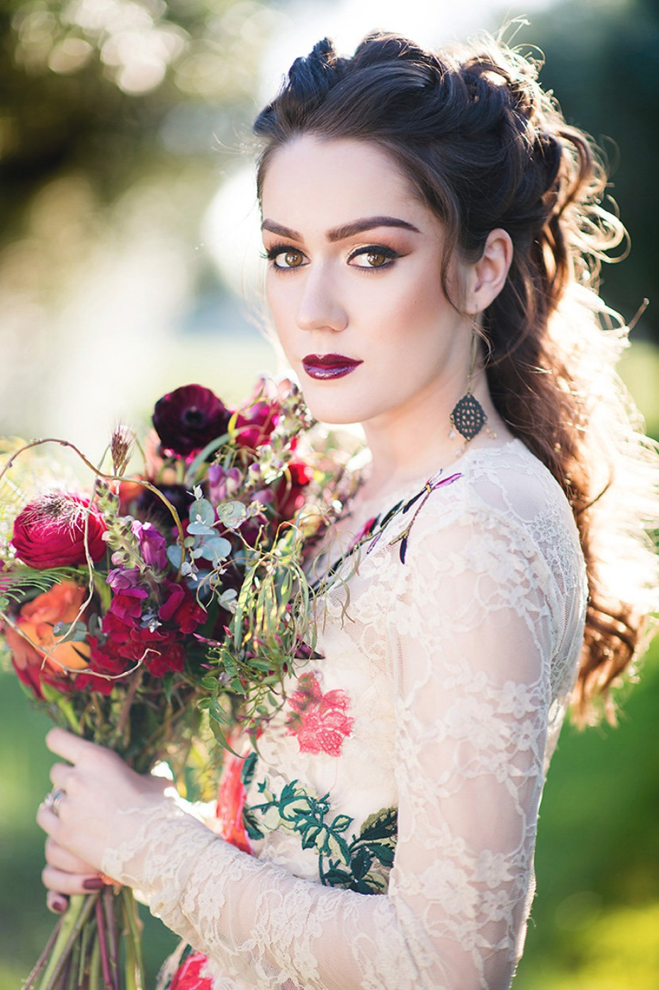 smokey Autumn bridal makeup