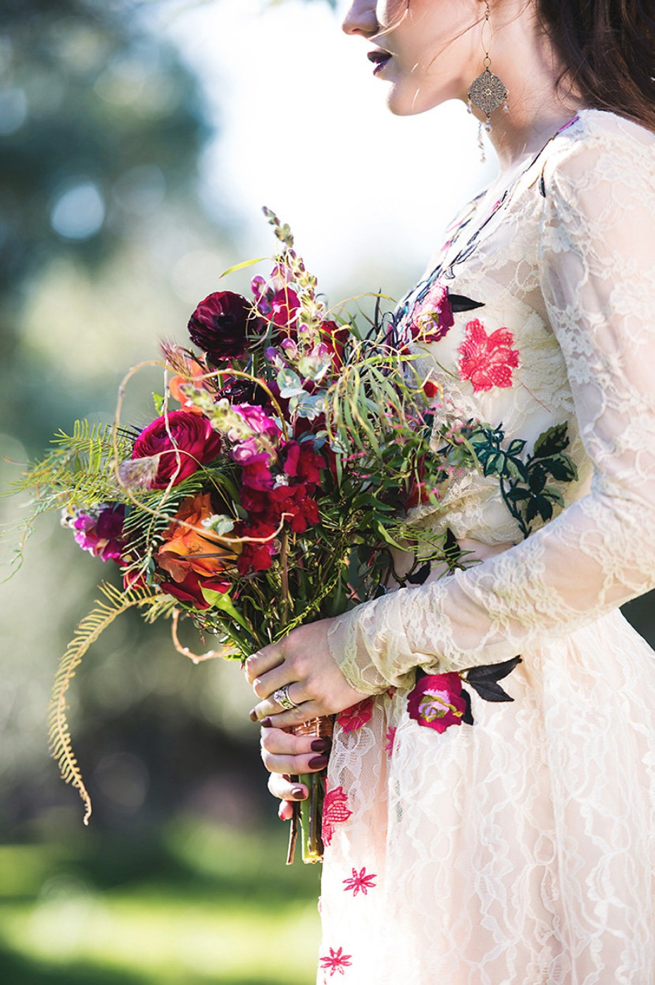 wild flower bouquet ideas for your Fall wedding