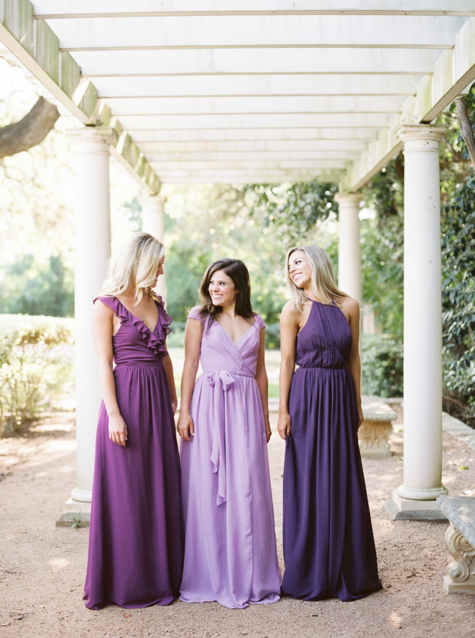 purple dresses from Revelry