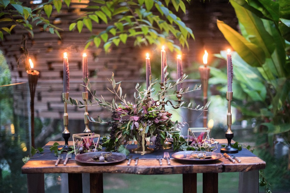 romantic and sexy wedding table ideas