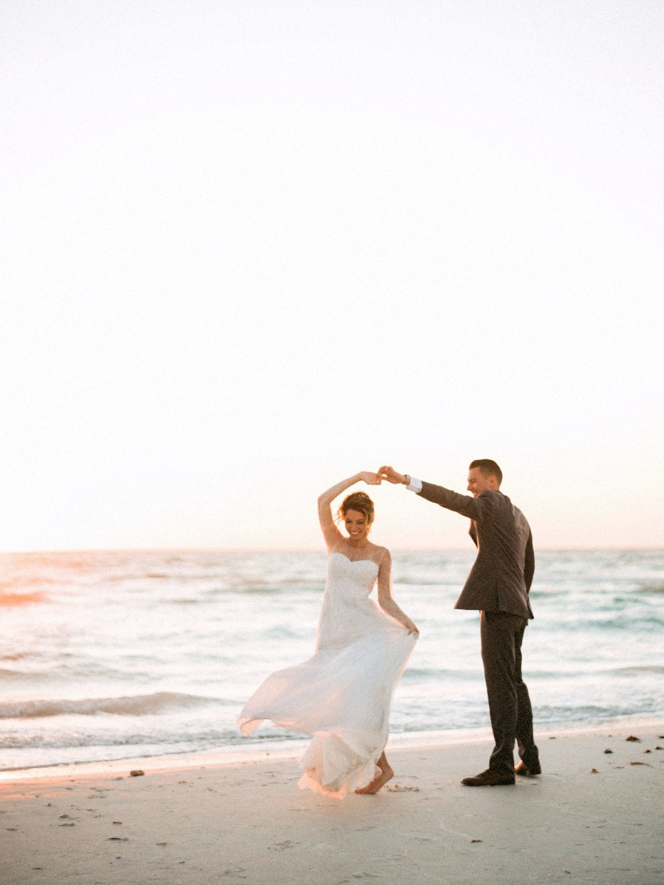 Twirl your bride on the beach
