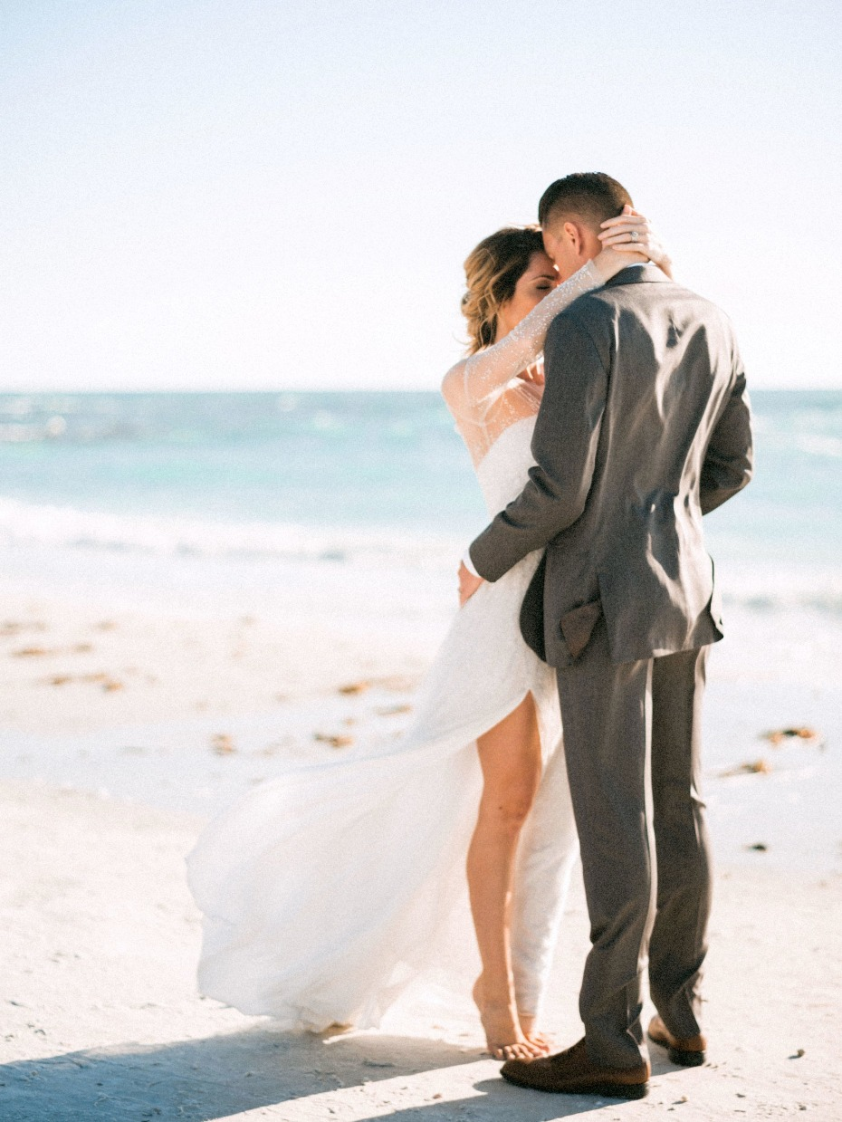 A beach wedding is SO romantic