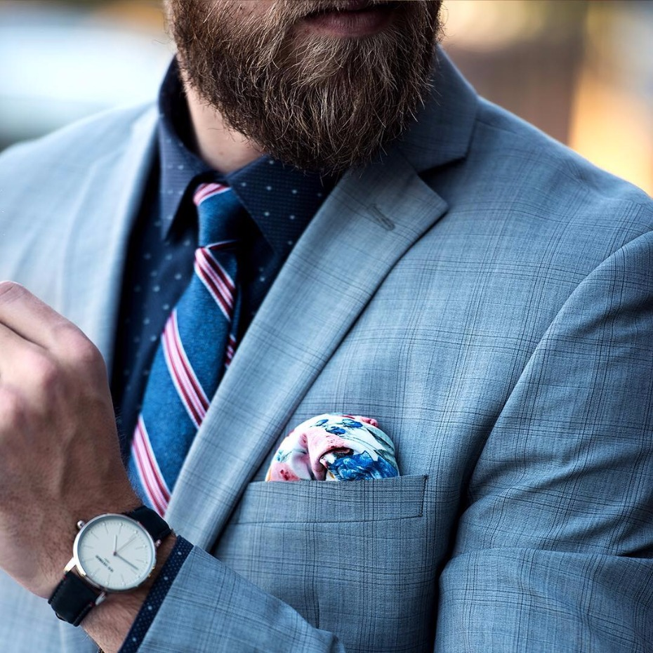 blue suit from BAR III! Perfect look for the wedding guest