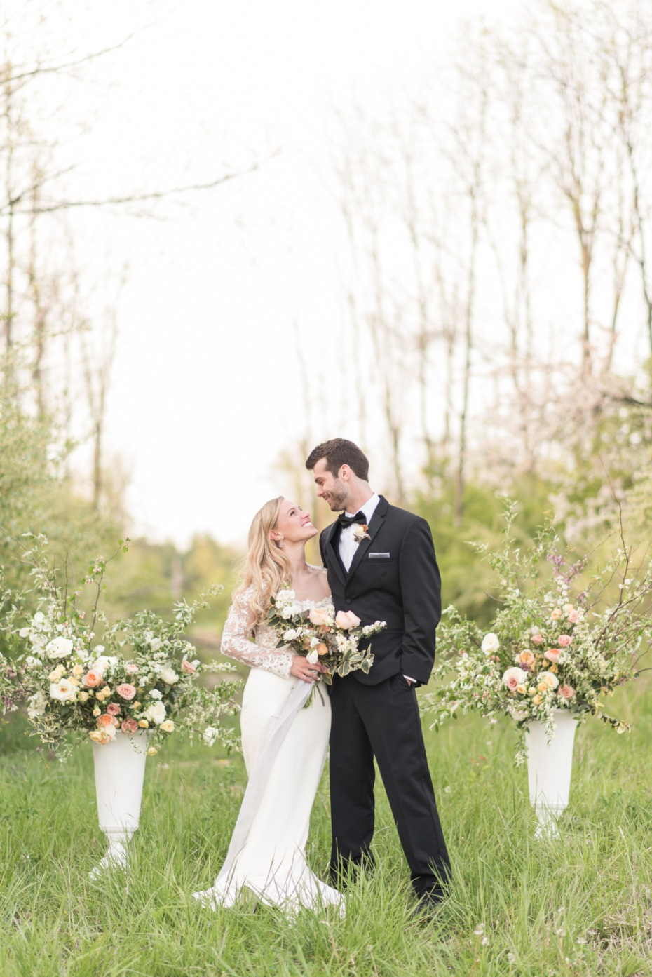 simple and elegant outdoor wedding ceremony