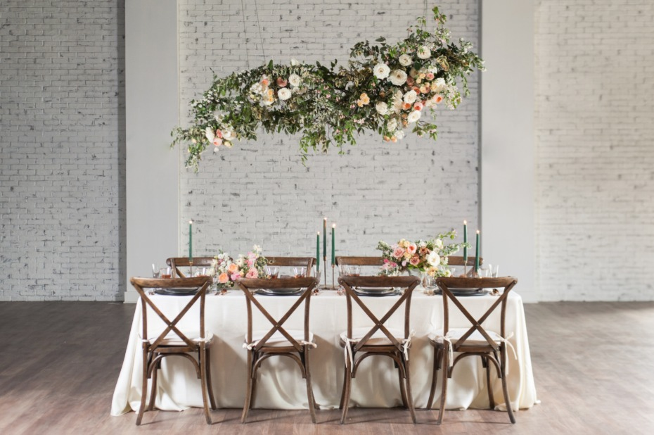 whimsical floating flower table halo