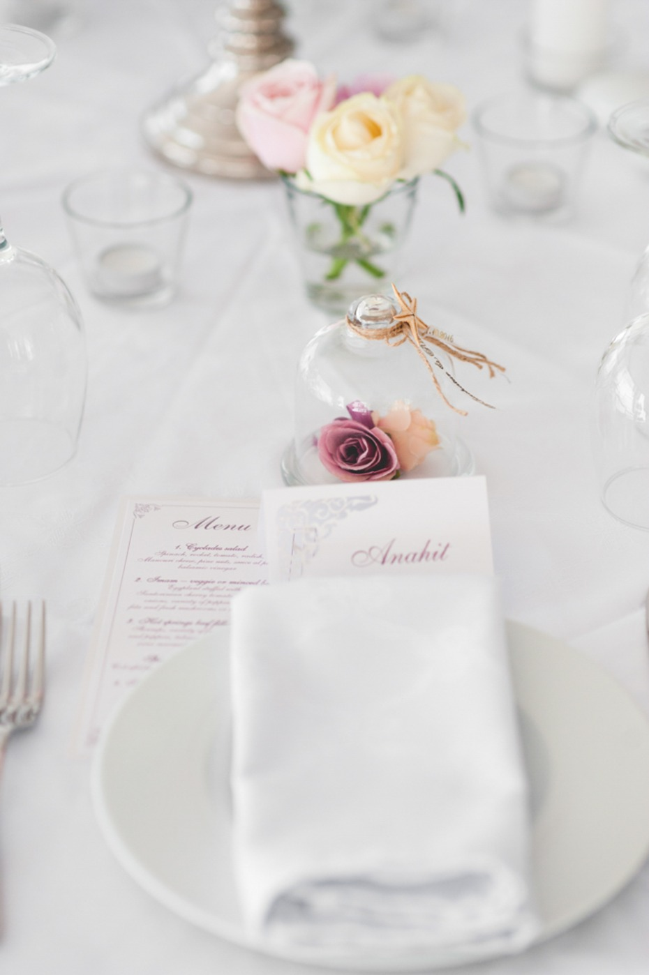 Sweet and simple table decor