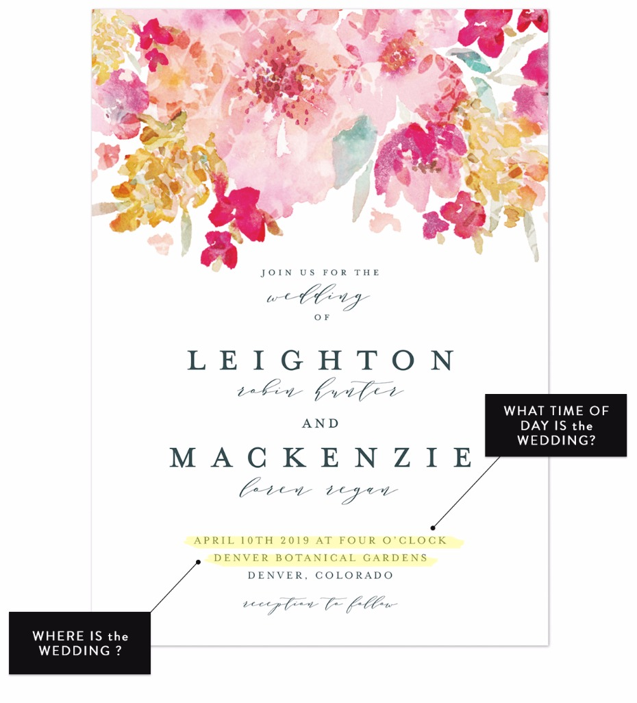 spring garden wedding invite